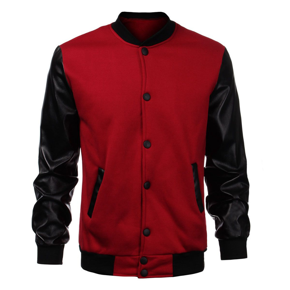Red And Black Bomber Jacket