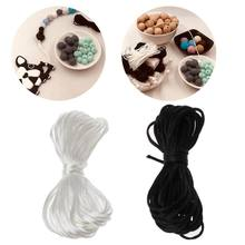 Baby Pacifiers Accessories 5m Satin Silk Rope 1.5mm Nylon Cord for Baby Mom Jewelry Making Teething Necklace Rattail Cord(China)