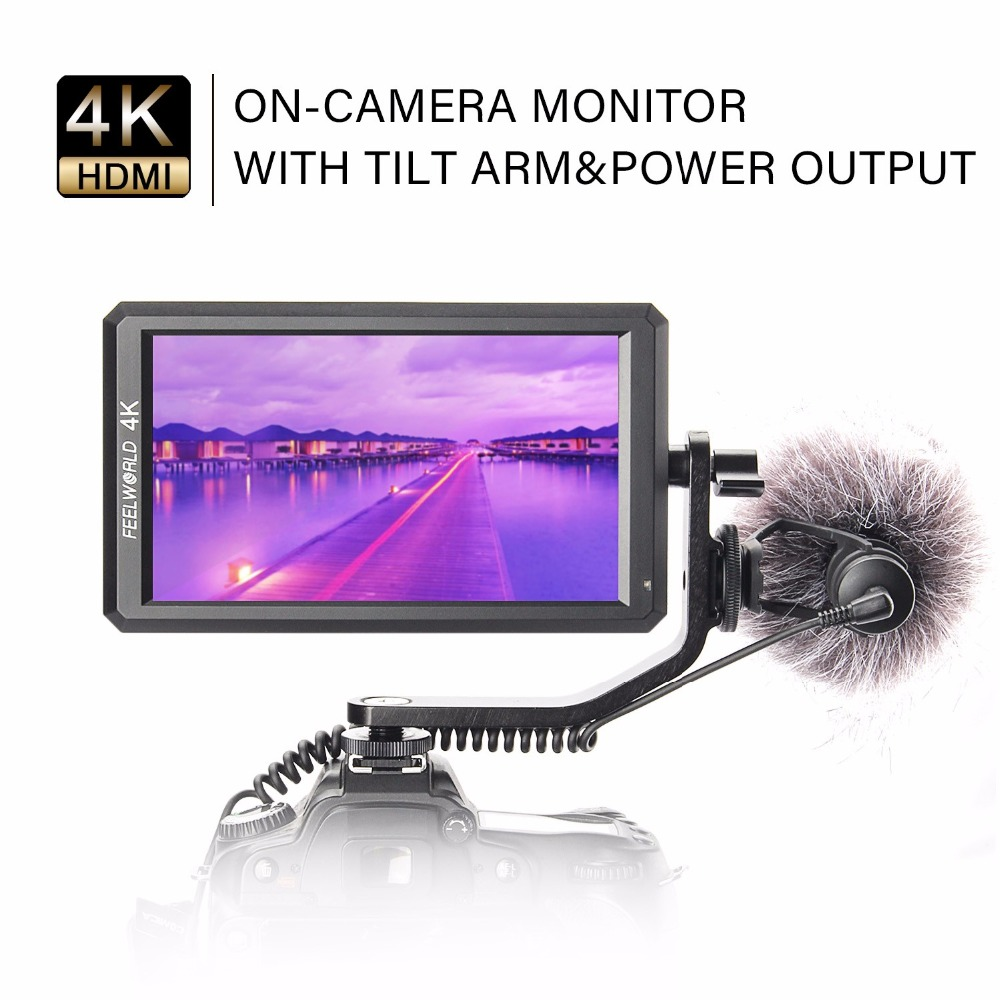 """Feelworld F6 5.7"""" IPS 4K HDMI Camera-top Monitor for Canon Nikon Sony Camera Video it Can Power for DSLR or Mirrorless Camera"""