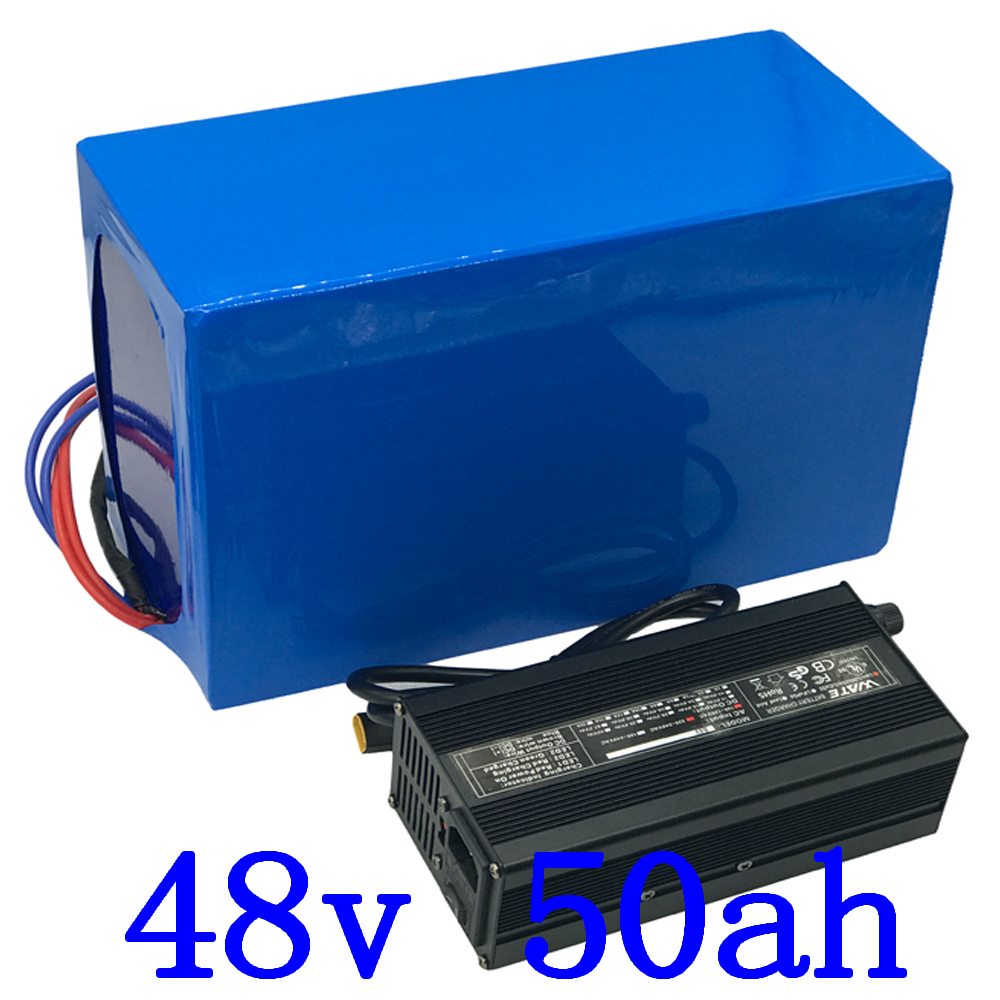 48V 50AH electric scooter battery 48V 50AH Electric Bike Battery 48V 1000W 1500W 2000W Lithium Battery with 50A BMS and charger48V 50AH electric scooter battery 48V 50AH Electric Bike Battery 48V 1000W 1500W 2000W Lithium Battery with 50A BMS and charger