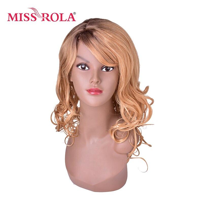 МИСС ROLA синтетические Косплэй парики 48 см коричневый Цвет длинные волнистые парик высокое Температура волокна волос парики для Для женщин ...