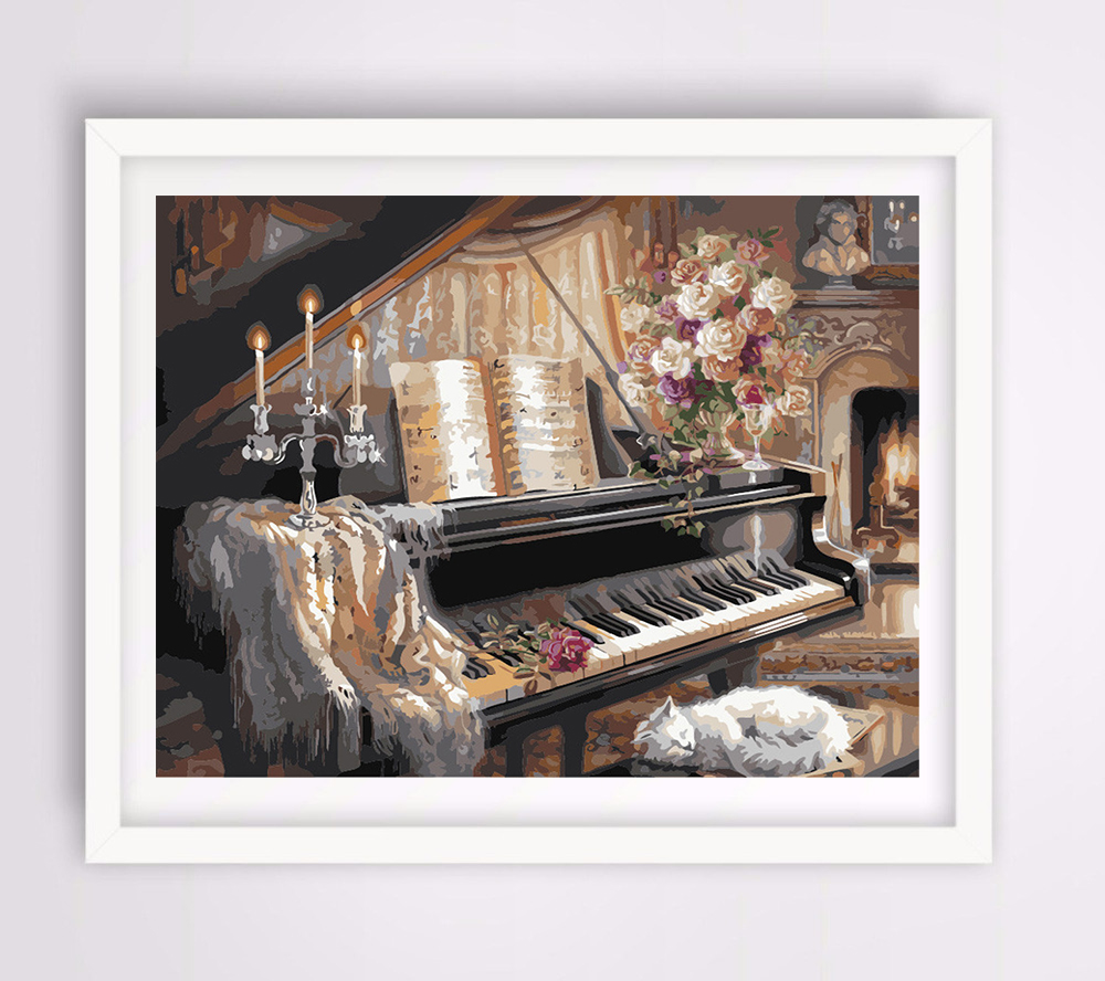 Buy Hand Painted Canvas Painting Vintage Home Decor Wall Pictures For Living