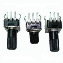 20 шт. переменный резистор 1 К 2 К 5 К 10 К 20 К 50 К 100 К 200 К 500 К 1 м ручка 7 мм/12 мм RV09 вертикальная регулировка потенциометра