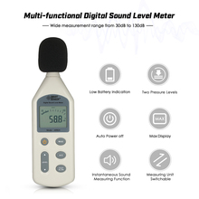 SMART SENSOR High Accuracy LCD Digital Sound Level Meter Noise Measuring Instrument Decibel Monitoring Tester 30-130dBA