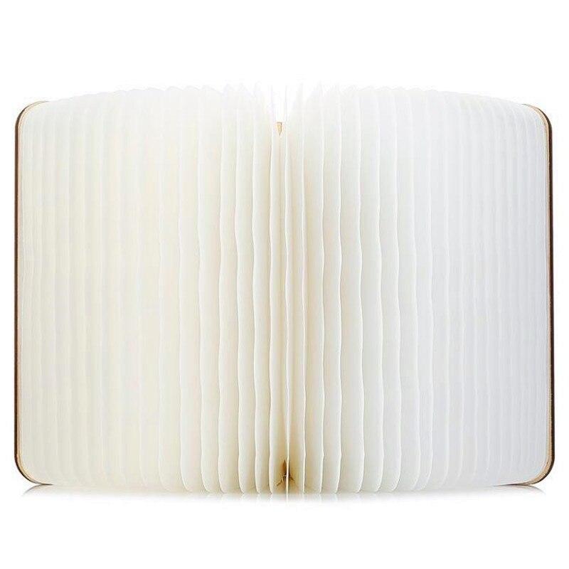 Shenzhen usine en gros commande bois blanc érable livres LED chambre veilleuse portable charge dupont papier livres couleur transp