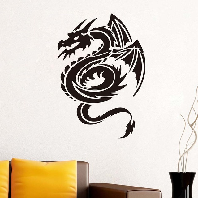 Lovely Chinese Dragon Wall Stickers For Kids Rooms Wall Decor Wall Art Decals  Posters Wallpaper Vintage Home