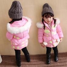Женский зимний ребенок точка хлопка-ватник утолщение 1 ребенок ватные куртки вниз хлопка-ватник 2 ребенок хлопок-мягкий