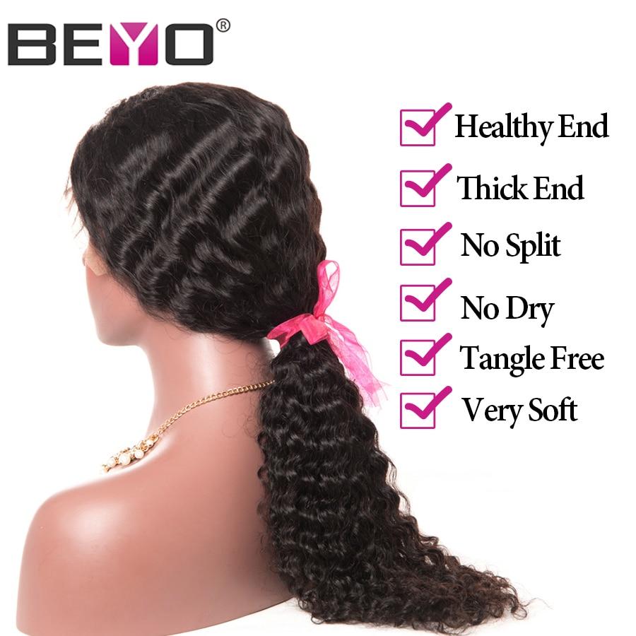 Beyo Lace Front Echthaar Perücken Für Schwarze Frauen Malaysian - Menschenhaar (für Schwarz) - Foto 5