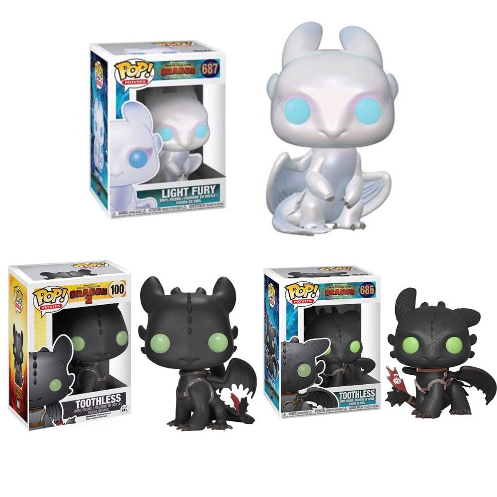 Toothless Action Figure 10CM Funko POP How To Train Your Dragon 2 Movies