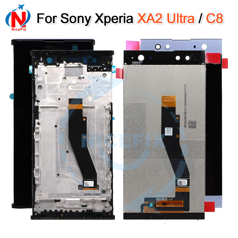 For SONY Xperia XA2 Ultra H4233 H4213 H3213 C8 LCD Display Touch Screen Digitizer Assembly with