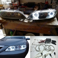 HochiTech For Mazda 6 Mazdaspeed6 Ultra Bright Day Light DRL CCFL Angel Eyes Demon Eyes Kit