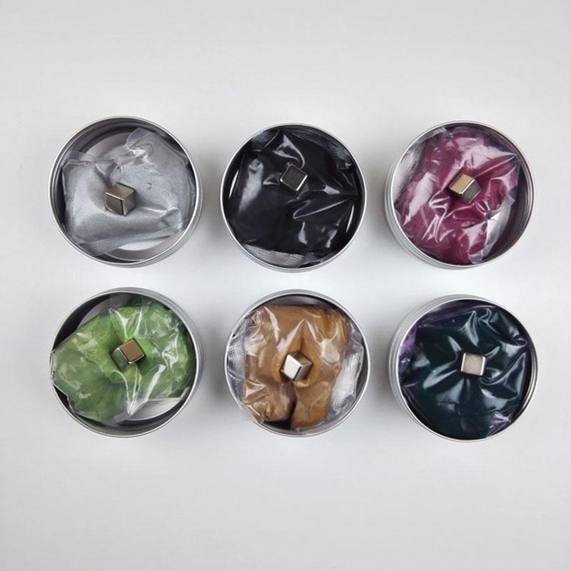 7Colors Magnetic Mud Ferrofluid Handgum Hand Gum Silly Magnetic Plasticine Magnet Clay Playdough Black Blue Purple Green Color
