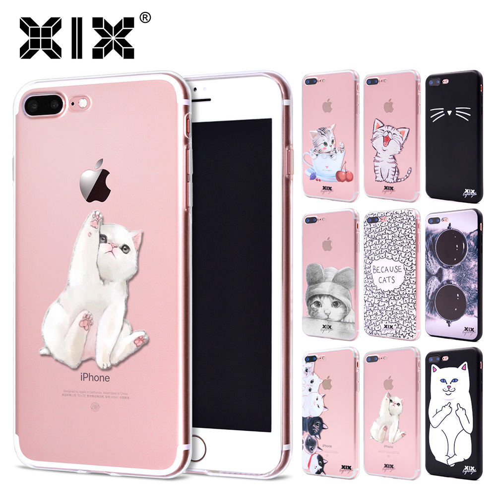 XIX for Funda iPhone X Case 5 5S 6 6S 7 8 Plus X XS Max XR Cute Cats for Cover iPhone 7 Case Soft TPU for Capa iPhone 8 Case