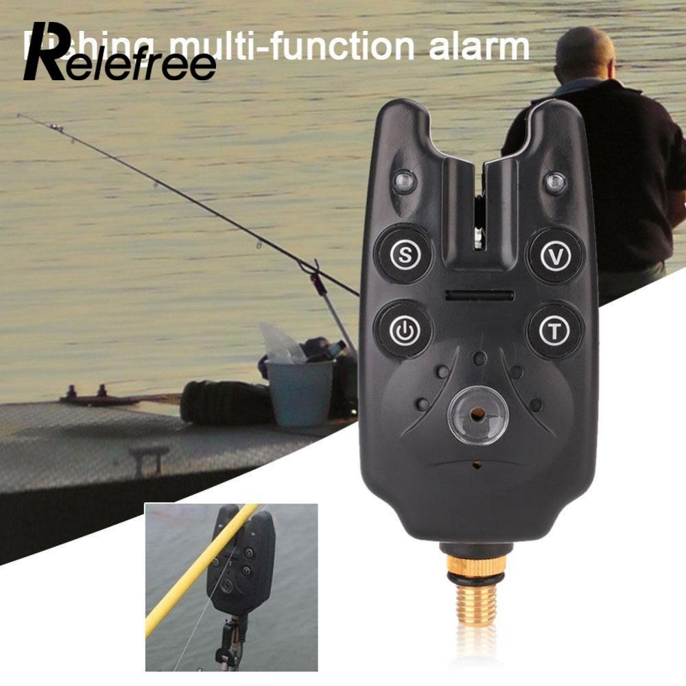 Relefree Fishing LED Light Up Illuminated Swinger Indicator Bite Alarm Chain Hanger Swing