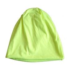 Мужчины Женщины Шапочка Сплошной Цвет Хип-Хоп Сутулятся Мужская Вязаная Шапка Шляпа Флуоресцентный желтый