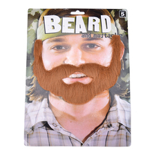 1Pcs Brown Halloween Beard Adult Men Fake Beard Mustache With Elastic Band Adult Gag Toys Festival Party Supplies