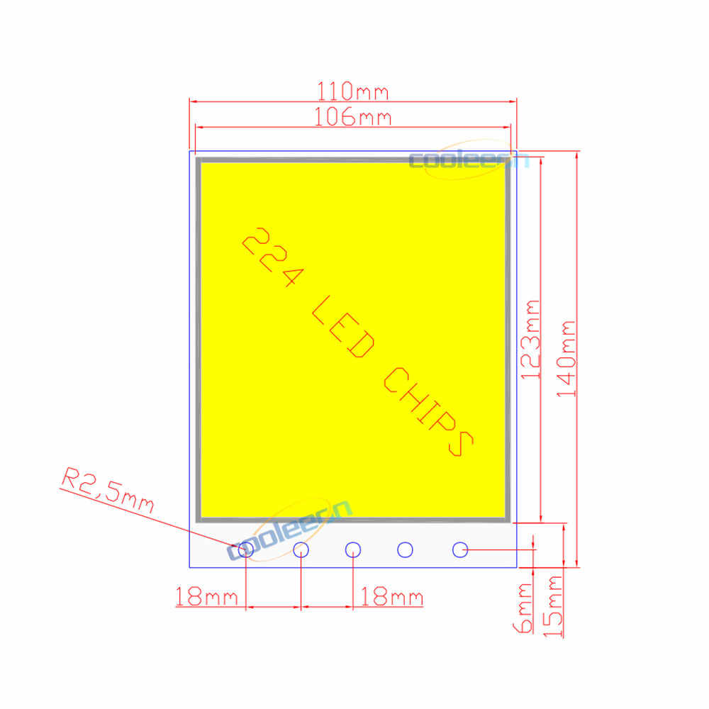 Pleasing Detail Feedback Questions About 140X110Mm Dimmable 12V 50W Cob Led Wiring Digital Resources Pelapslowmaporg