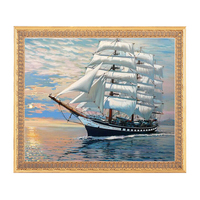 Needlework DIY DMC 14CT Unprinted Cross Stitch Counted Embroidery Cross Stitch Kits Set Big Ship In