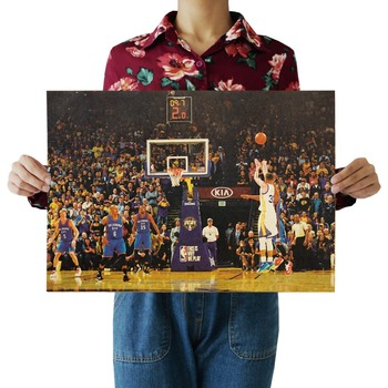 W,Stephen Curry,slam dunk,Basketball star Sports/kraft poster/Retro bar Poster/Wall stickers/decorative painting 51x35.5cm