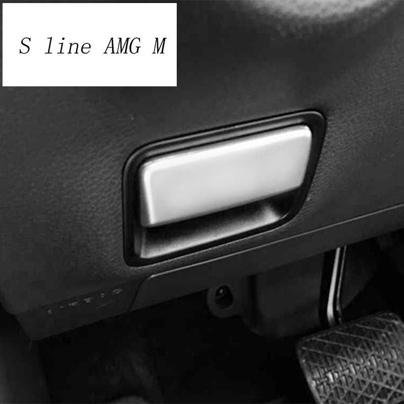 Araba styling ayak fren açma anahtarı dekorasyon çıkartması kapak için Mercedes Benz ML X166 GLE Coupe C292 GLS oto aksesuarları