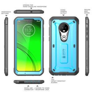 Image 4 - Fall Für Moto G7 (2019) SUPCASE UB Pro Full Körper Robuste Holster Abdeckung mit Integrierten Bildschirm Protector Für Motorola Moto G7 Fall
