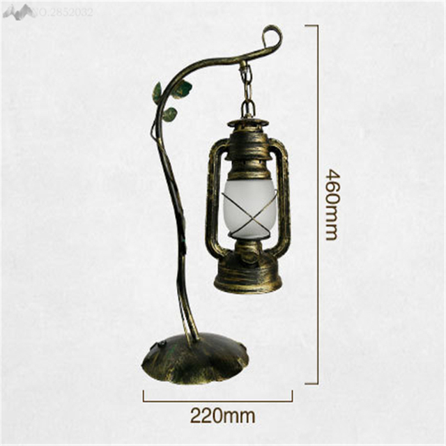 LFH European Retro Style Table Lamps Glass Living Room/cafe/Bedroom/Bank/