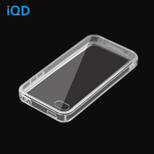 цена на IQD For Apple iPhone 4S Case, Scratch-Resistant Slim Clear Case For iPhone 4 tpu Crystal Clear Soft + hard combination