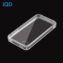 IQD Voor Apple iPhone 4S 4 Case, krasbestendig Slim Clear Case Voor iPhone 4 cover tpu Crystal Clear Soft + harde combinatie(China)