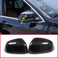 Настоящее карбоновое волокно зеркало заднего вида Крышка Накладка для BMW X5 F15 G05 2014 2019 для BMW X7 G07 2019