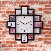 DIY Duvar Saati Modern Tasarım DIY Fotoğraf Çerçevesi Saat Plastik Sanat Resimleri Saat Benzersiz Saat Ev Dekor