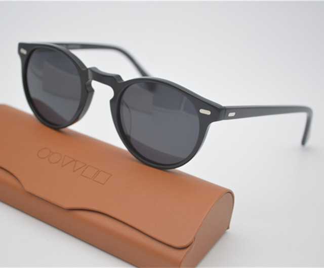 d6e2315be13 Retro Men s Polarized Sunglasses Male Driving Outdoor Women Oliver Peoples  OV5186 47mm Gregory Peck Sun Glasses