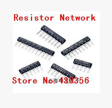 20pcs   Resistor Network   A10-103G   10K Ohm  Free Shipping DIP Exclusion 10pin