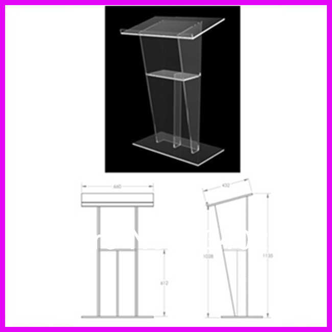 Free Shipping Acrylic Podium Church Pulpit In Reception