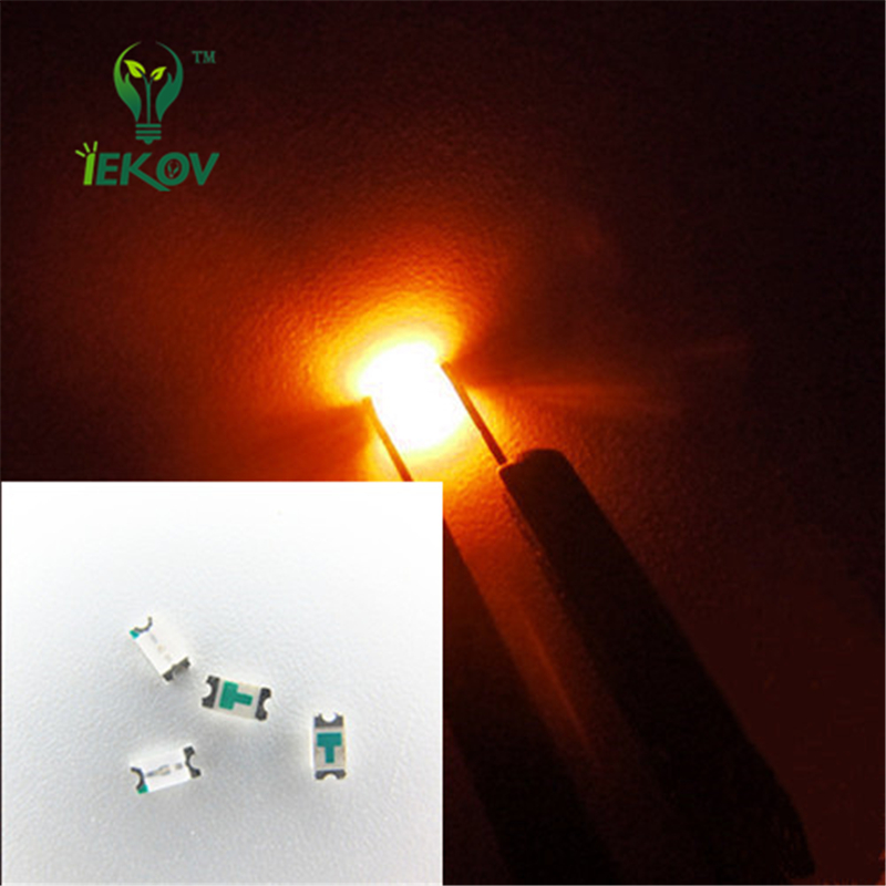Diodes 100 Pcs 0805 Smd Orange Amber Led 600-610nm Smt Led Light Diode Water Clear Diy Super Bright Diodes Active Components