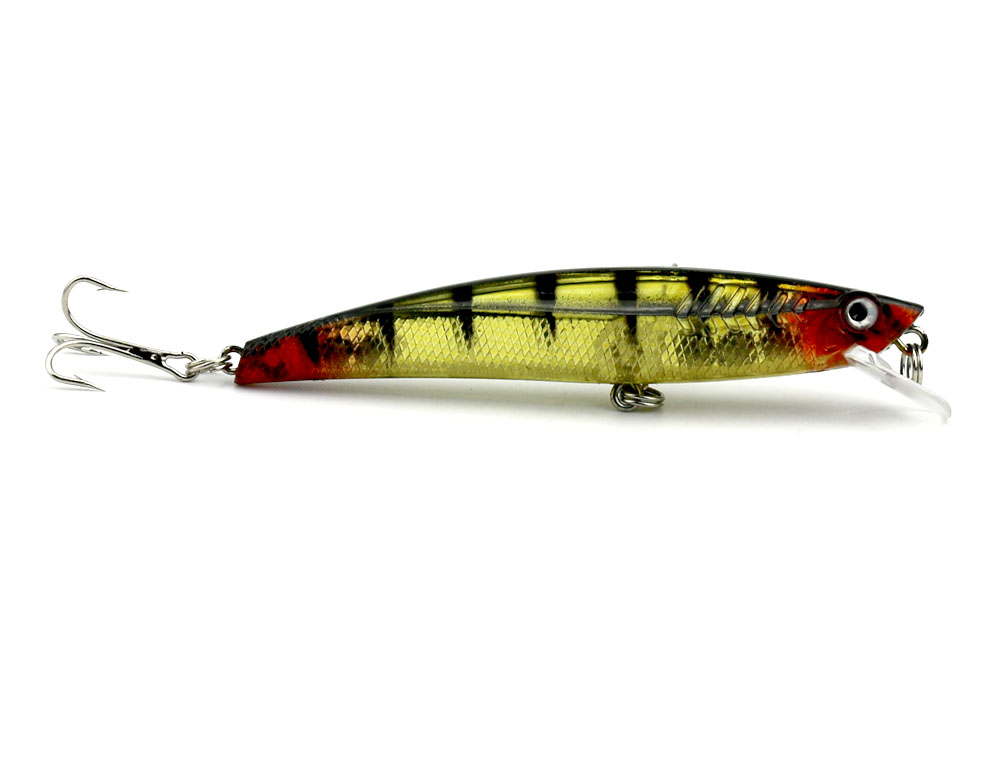 Fishing lures bass crankbait minnow hook hook hard for Fishing with minnows for bass