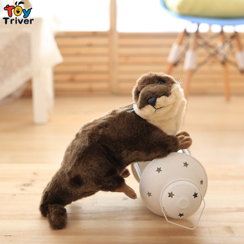 40cm Simulatioon Plush The Sea Otter Toy Stuffed Cute Otters Doll Toys Wild Animals Children Kids Student Special Gift Triver 5pcs lot pikachu plush toys 14cm pokemon go pikachu plush toy doll soft stuffed animals toys brinquedos gifts for kids children