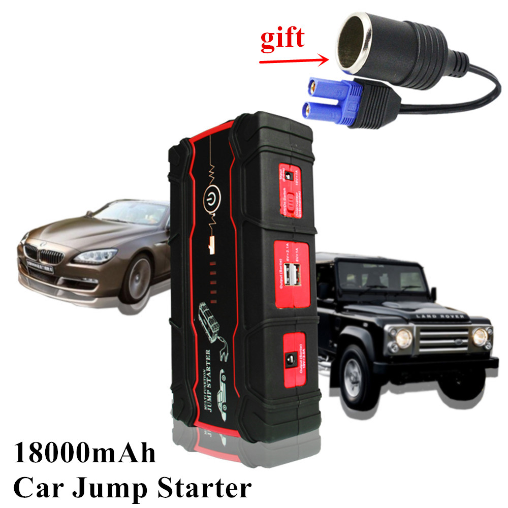 все цены на 800A Peak Current Car Jump Starter Portable 18000mAh Starting Device For 8.0L Petrol Car & 6.0L Diesel Car Super 12V Car Charger онлайн