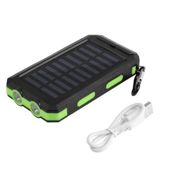 30000mah Solar Power Bank External Battery Bank Fast Charge Dual USB Powerbank Portable Universal Mobile Phone Charger 2