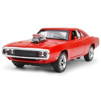 Classic Fast Furious 1 32 Scale Dodge Charger Model Metal Diecast Cars Pull Back Alloy Toys