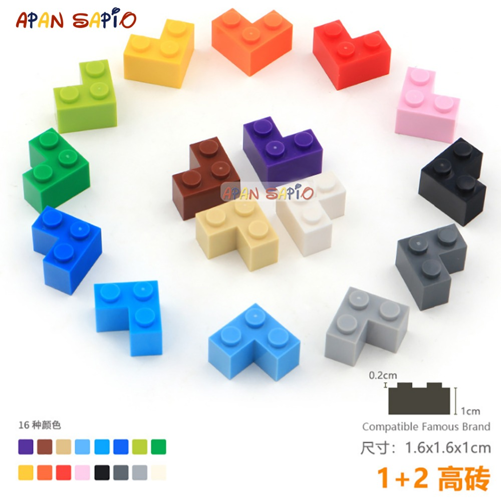 15pcs/lot DIY Blocks Building Bricks Thick 1+2 Educational Assemblage Construction Toys For Children Size Compatible With Lego