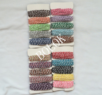 4 cards/lot(total 200yards) thin bakers twine 4ply ,divine twine, DIY Twine used in all kind packing image