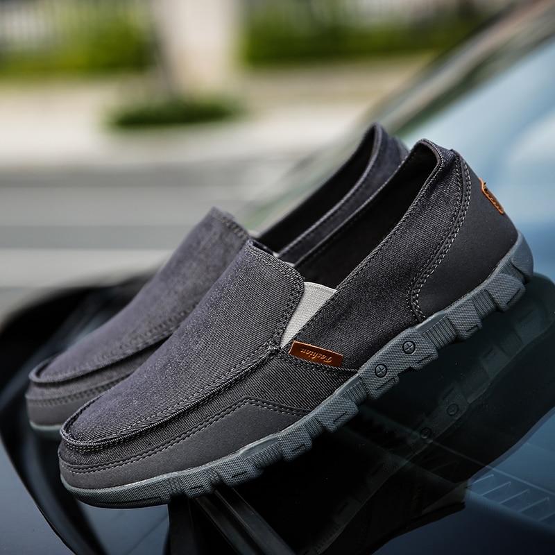 Encaje De Blue Cómodo 2019 Nuevos Lona Plus 48 La gray khaki Los Hombres 38 Casuales Mocasines Zapatos Verano Tamaño Moda TqvqW1xE