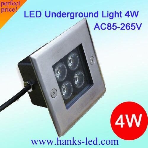 Высокая мощность 4 Вт светодиодный подземный свет и 4 Вт светодиодный подземный свет для наружного освещения, 20 шт./партия