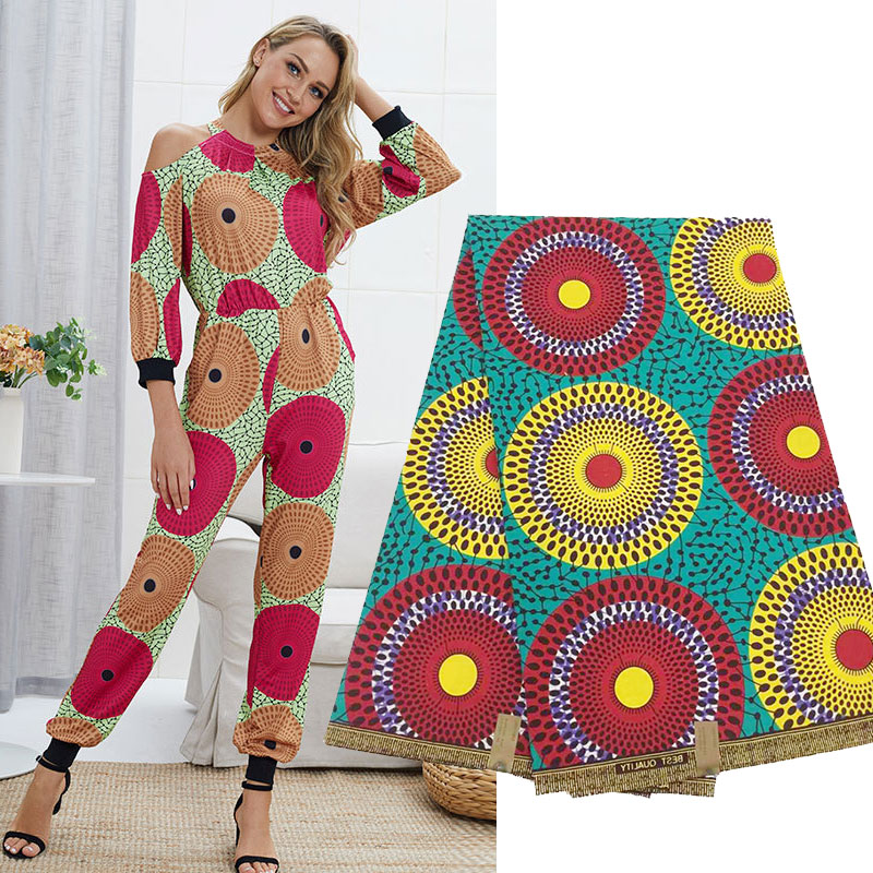 High Quality African Java Wax Fabric For Dress, 2019 African Printed Ankara Holland Wax Cotton Nigerian Fabrics Cloth A0003