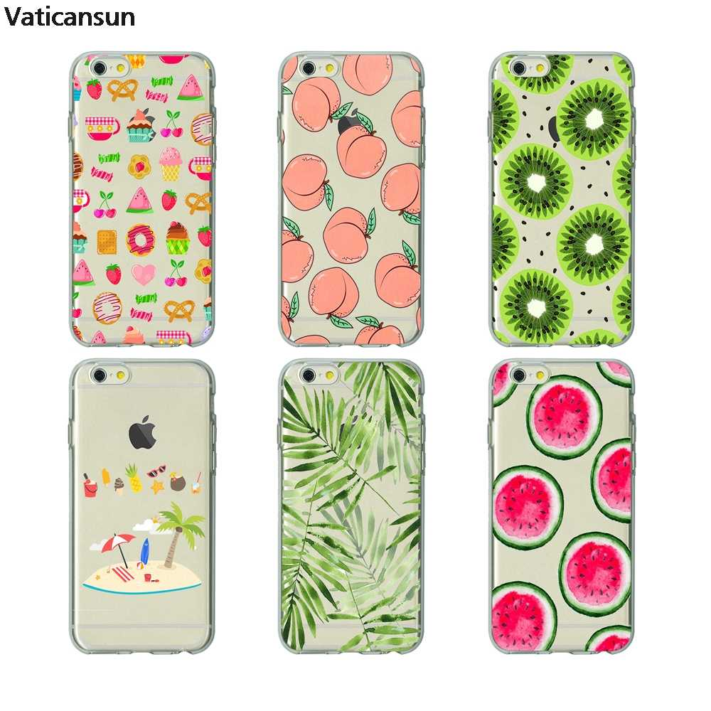 huge selection of 5cf93 eb34b lovely skinny dip peach summer fruit clear cover phone bag case soft  Silicone for iPhone X 6 7 8 plus 5 5s 6s se best Housing