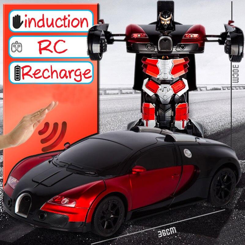 Image 5 - 2,4 г Индукционная деформация радиоуправляемые машины Трансформация Робот автомобиль игрушечный светильник Электрический робот модели игрушки для детей Подарки-in RC-машины from Игрушки и хобби on AliExpress - 11.11_Double 11_Singles' Day