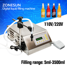 Digital Control Pump Drink Water Liquid Filling Machine GFK-160 5-3500ml