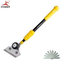 RDEER do czyszczenia łopata nóż 400 580mm regulowany drążek teleskopowy dla szklana podłoga płytki skrobak do czyszczenia narzędzi ręcznych w Zestawy narzędzi ręcznych od Narzędzia na