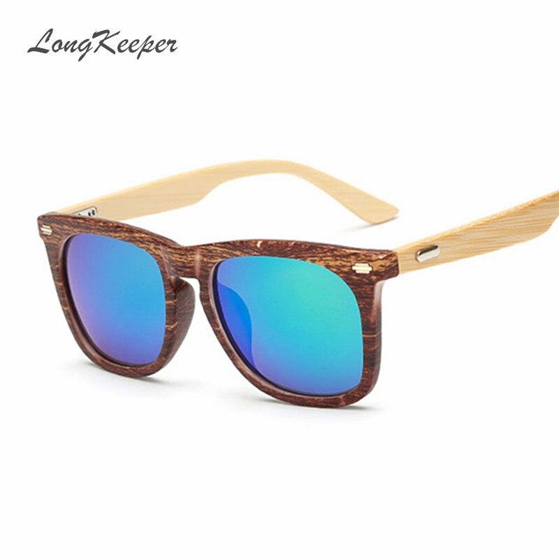 d39fb2c775 Longkeeper bambú pie Gafas de Sol de madera cuadrada Gafas de sol mujeres  hombres marca diseñador de madera original Sol Gafas gafas de sol k1516