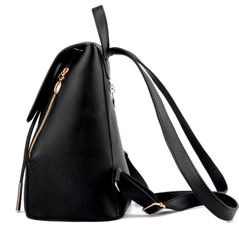 HTB1avcMim7PL1JjSZFHq6AciXXaq Ainvoev Bookbag Women Backpack Fashion Girls Leather Backpack Candy Color Teenage School bag Mochila High Quality Satchel